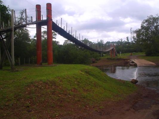 El puente colgante del Valle Edén